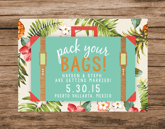 pack your bags save the date card http://itgirlweddings.com/guide-to-your-save-the-dates/