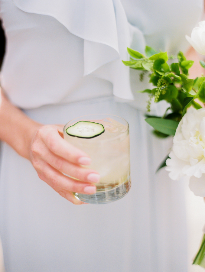 wedding signature cucumber cocktail http://itgirlweddings.com/pretty-vineyard-wedding/