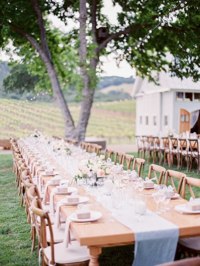 blush blue vineyard wedding http://itgirlweddings.com/pretty-vineyard-wedding/