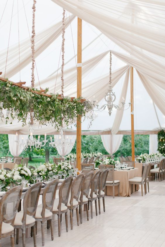 green wedding marquee tent http://itgirlweddings.com/how-to-master-an-outdoor-wedding/