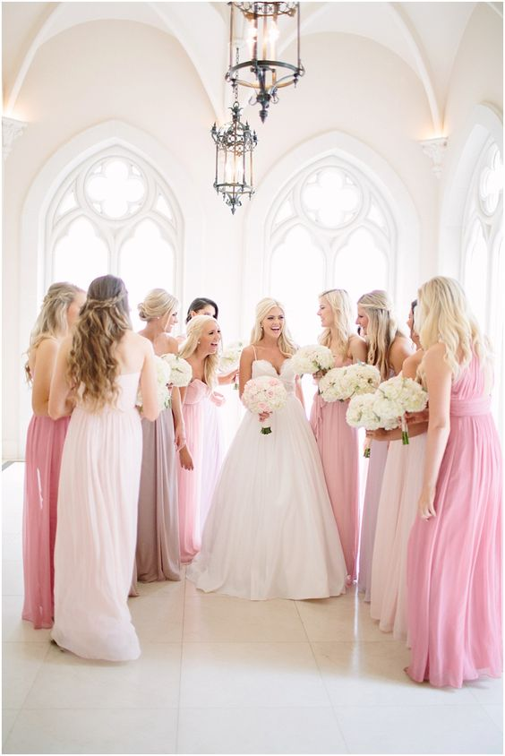 WHAT TO CONSIDER WHEN CHOOSING YOUR BRIDESMAIDS DRESSES http://itgirlweddings.com/consider-choosing-bridesmaids-dresses/