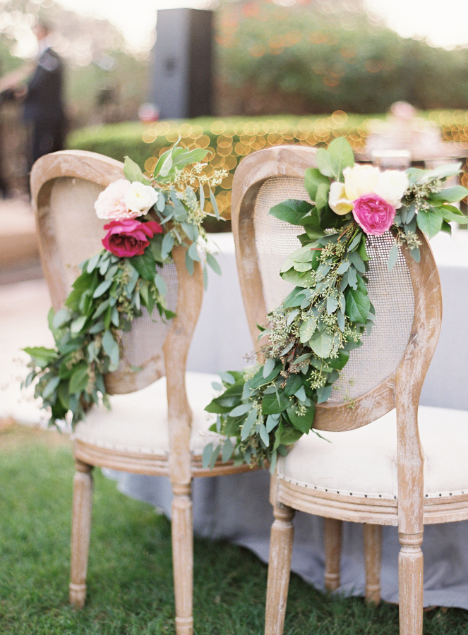 wedding chair florals http://itgirlweddings.com/best-day-ever/