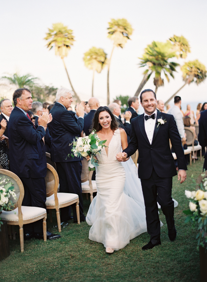 bride and groom walking down the aisle http://itgirlweddings.com/best-day-ever/