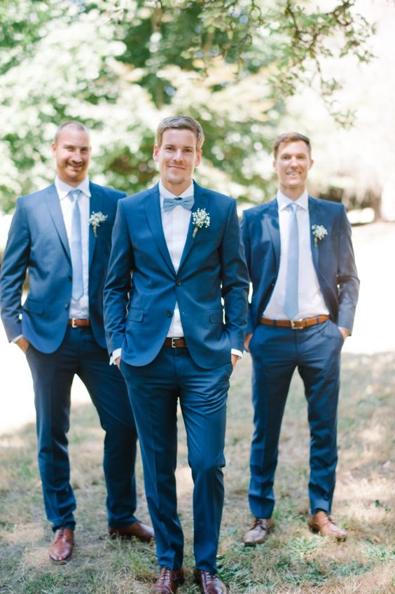 Blue Groomsmen Suits Http Itweddings Who Is Responsible
