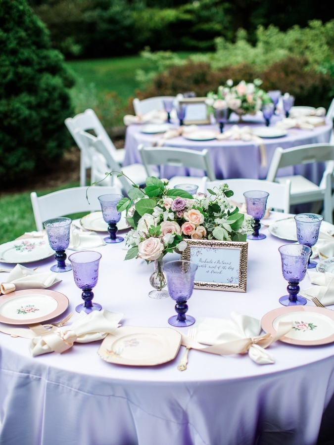 lilac bridal shower tables http://itgirlweddings.com/garden-bridal-shower/