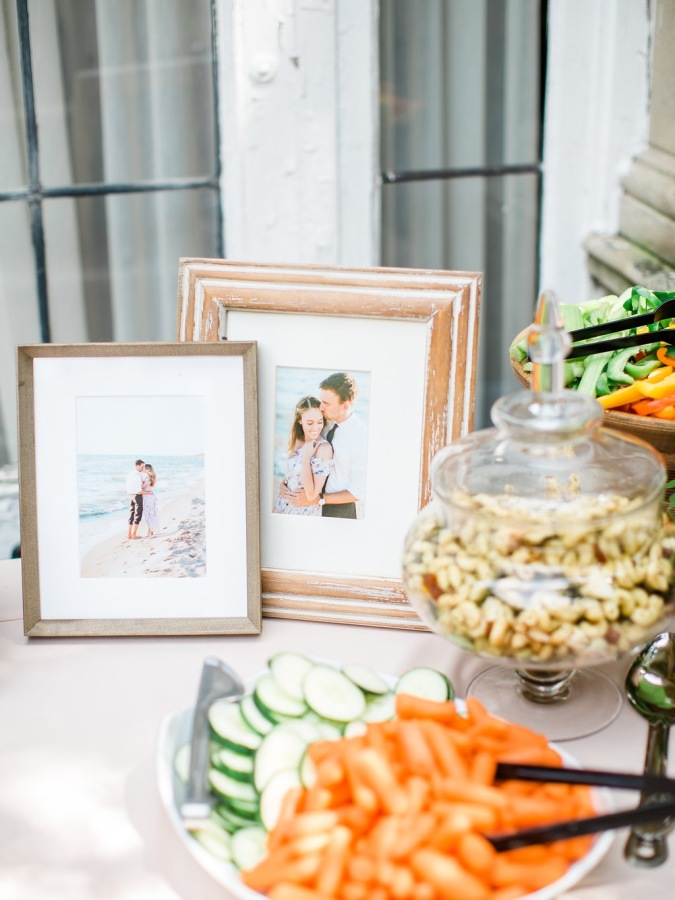bridal shower picture frames http://itgirlweddings.com/garden-bridal-shower/