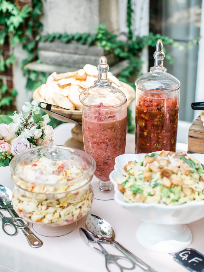 bridal shower food table http://itgirlweddings.com/garden-bridal-shower/