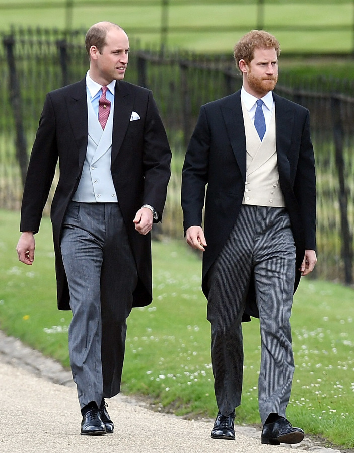 william an harry at Pippa's wedding