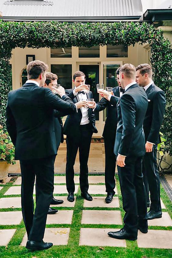 groomsmen toasting a shot, GROOM WEDDING PLANNING TO-DO LIST