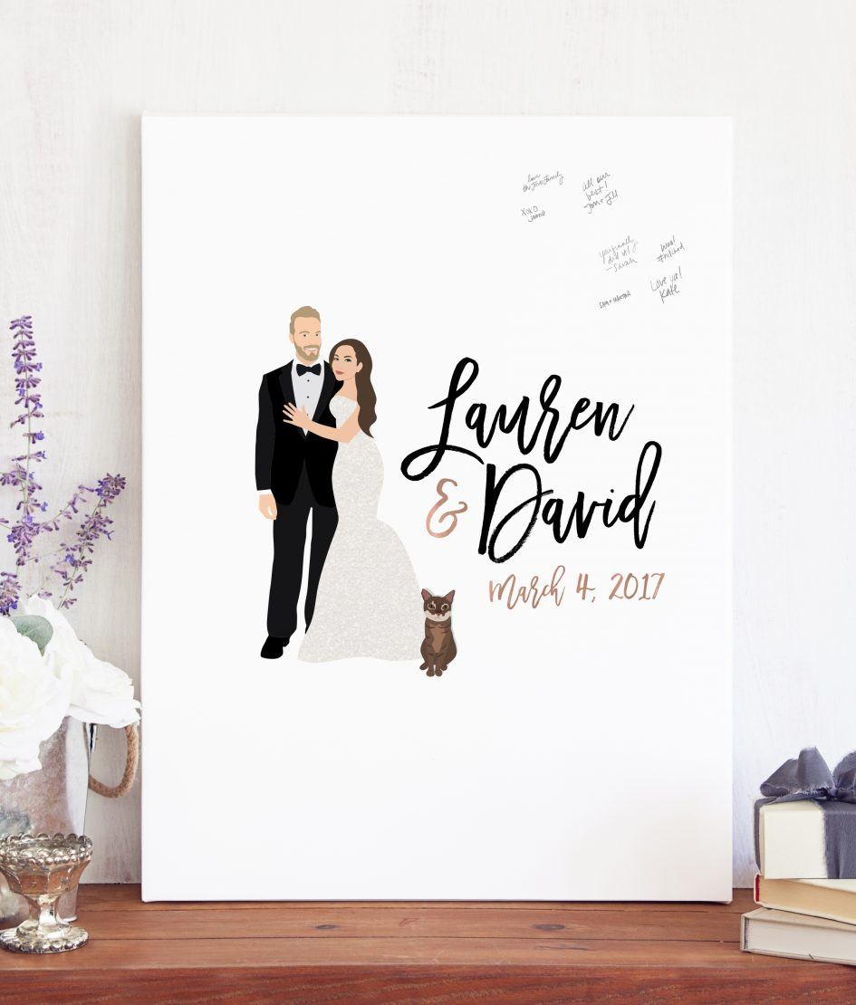 Miss Design Berry Giveaway custom guest book