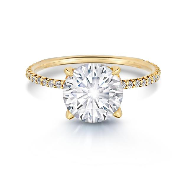 DE SOLITAIRE YELLOW ROUND
