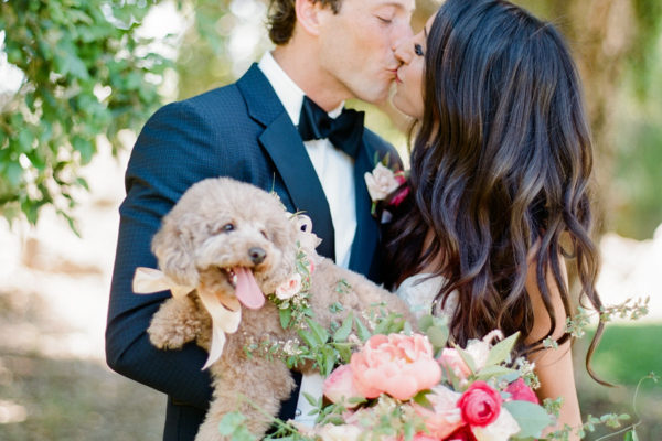 COLORFUL WEDDING WITH A FUR BABY FLOWER GIRL