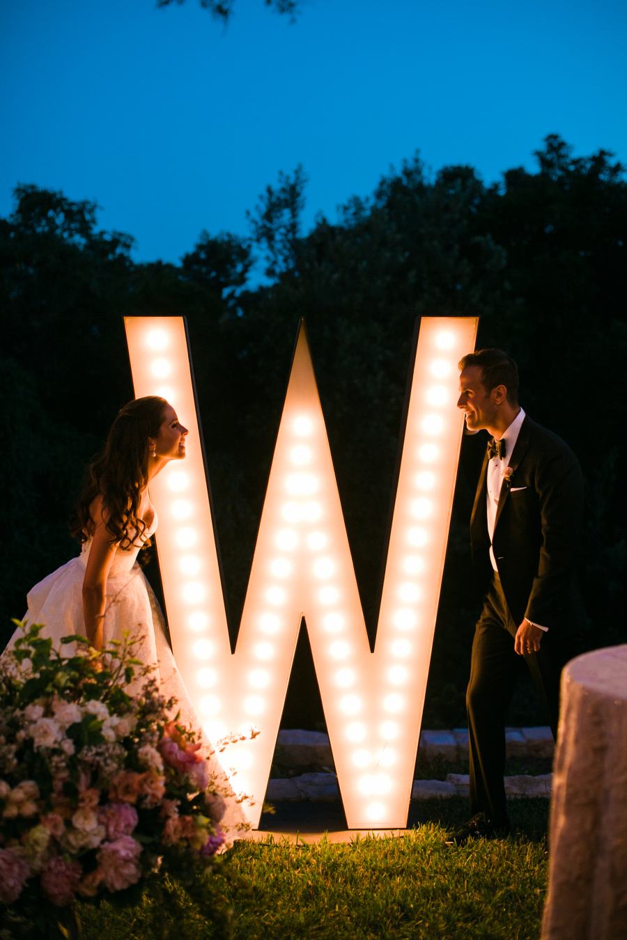 light up marquee letter wedding