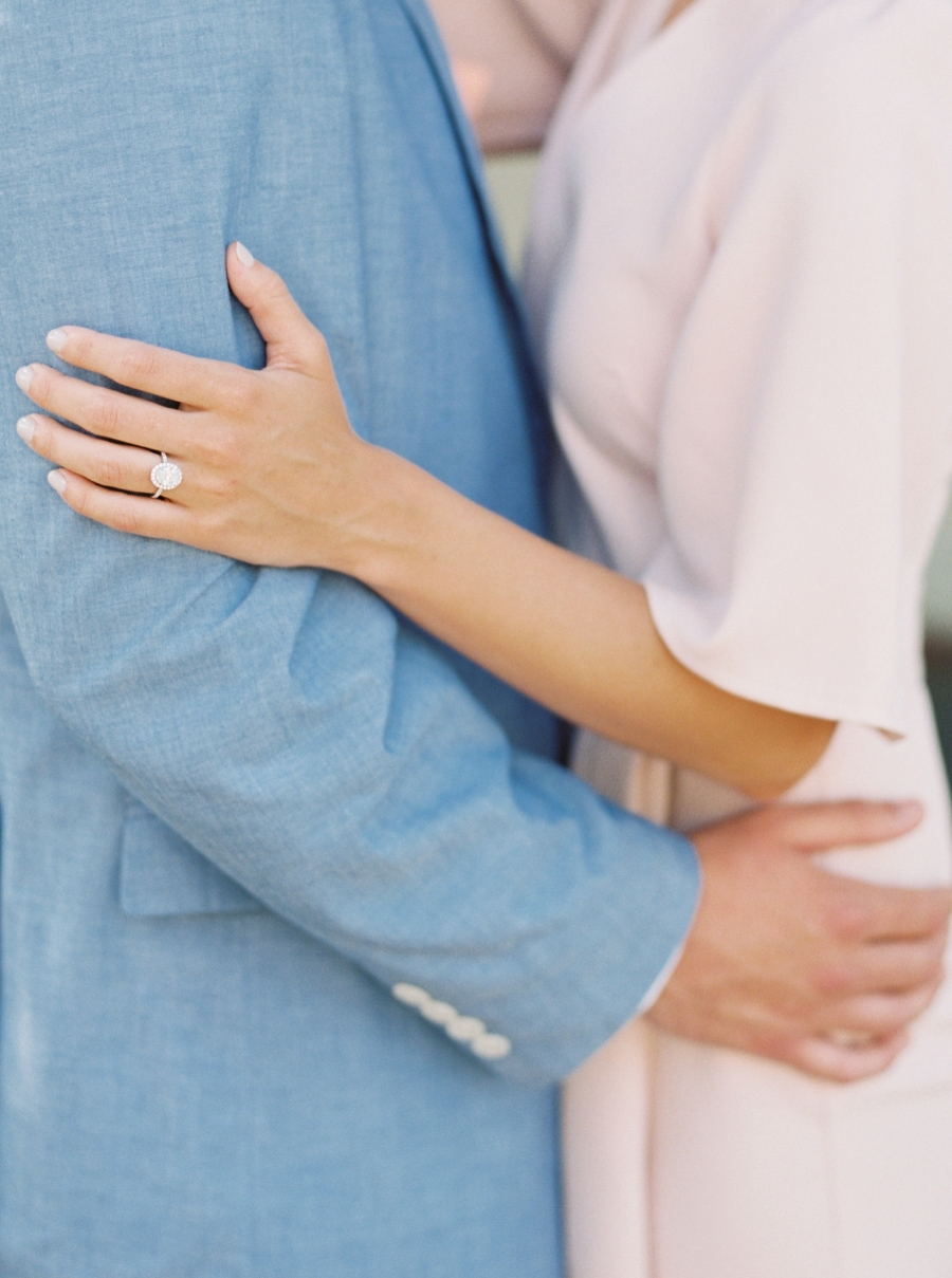 wedding ring in engagement session