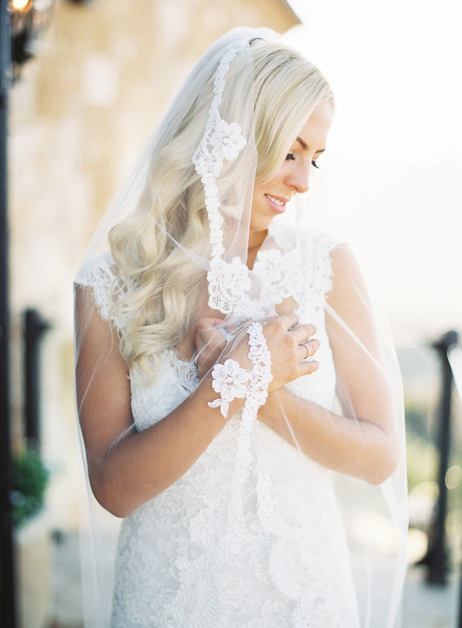 lace and tulle bridal veil