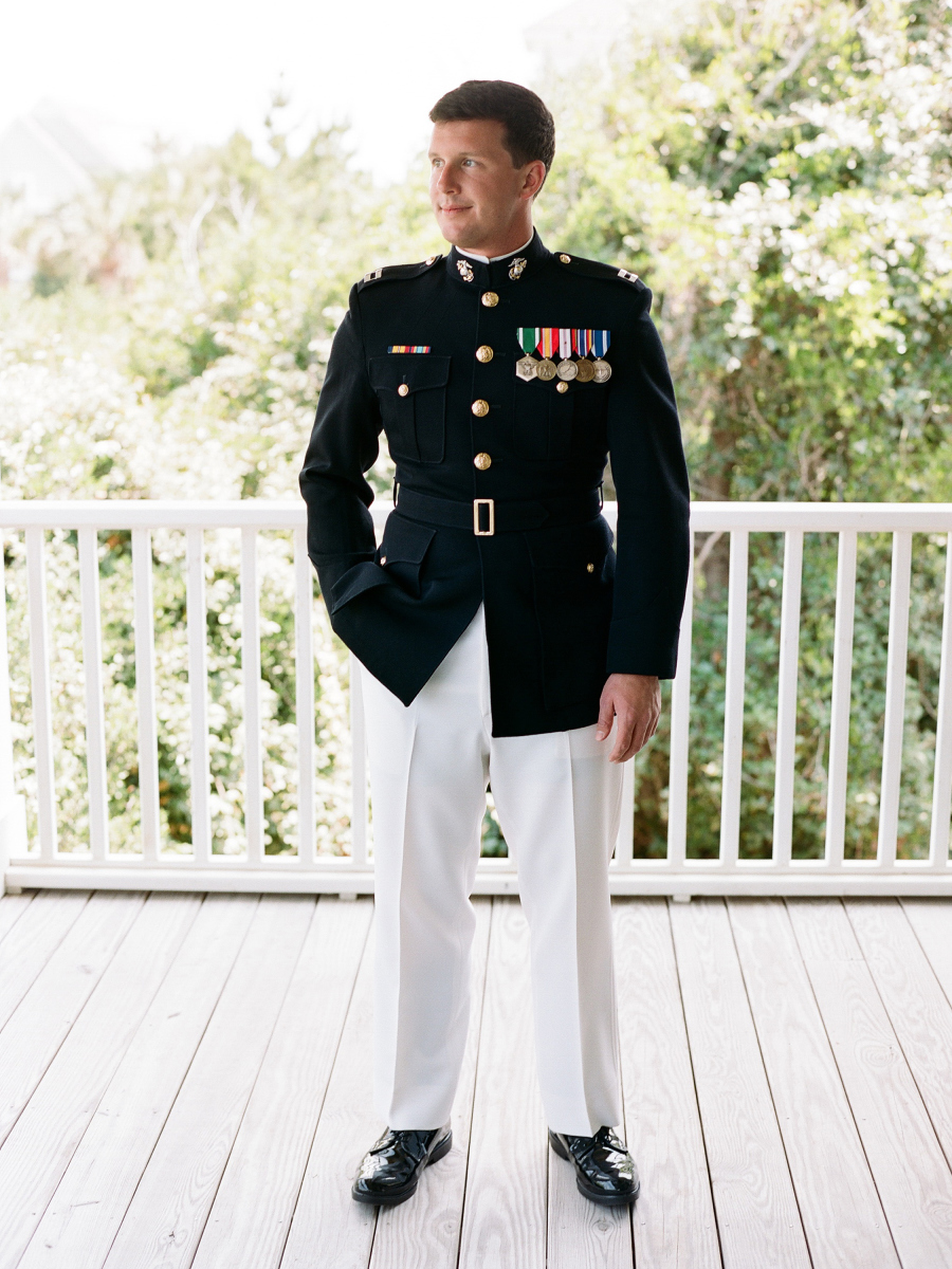 army wedding suit
