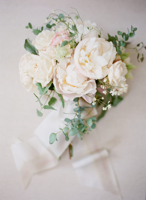 ivory peonies bouquet