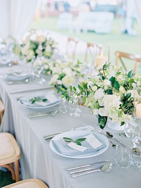 pin-worthy wedding table, blue weddings