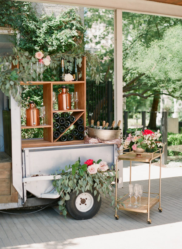 champagne drink cart