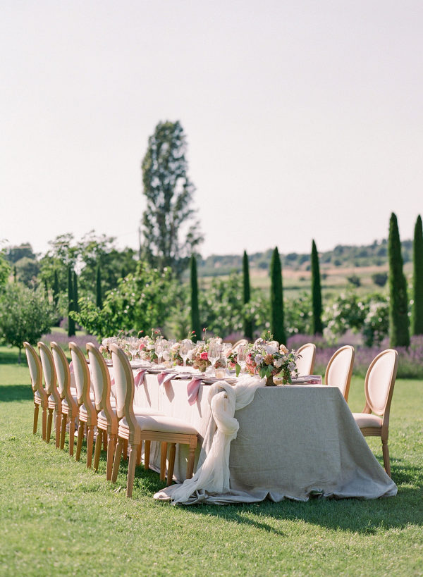 wedding reception table outdoors