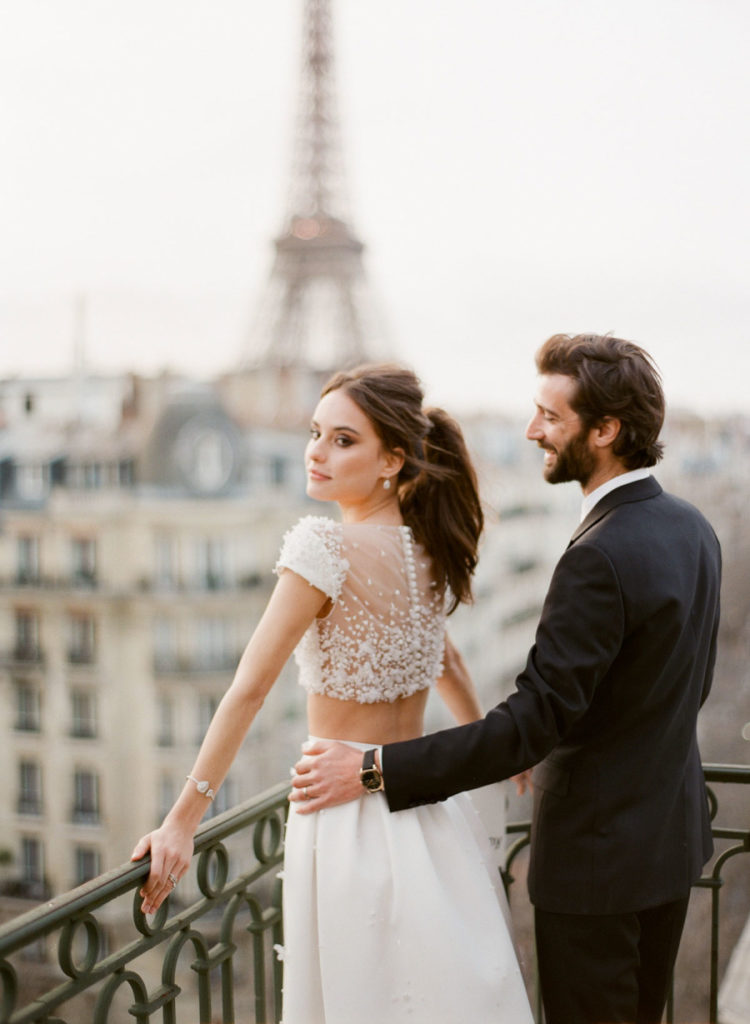ROMANTIC PARISIAN ELOPEMENT WITH VIEW OF EIFFEL TOWER