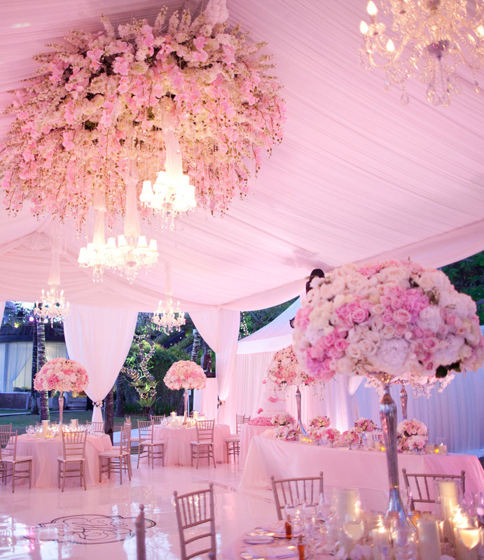 Over The Top Bali Wedding It Weddings Reception In Marquee Tent