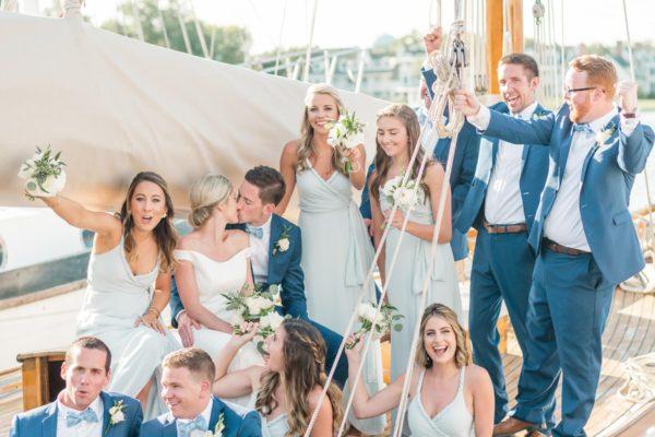 A NAUTICAL WEDDING WITH A GOLDEN RETRIEVER WHO STOLE THE SHOW